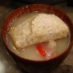 玄米餅でお雑煮