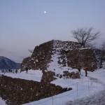 冬の竹田城跡