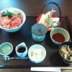 かごの屋 まぐろ三昧丼 天ぷら・茶碗蒸しセット